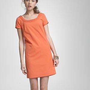 J. Crew Orange Basket-weave portico dress size 10